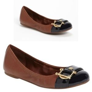 Tory Burch NOEL balet flats brown black size 8.5